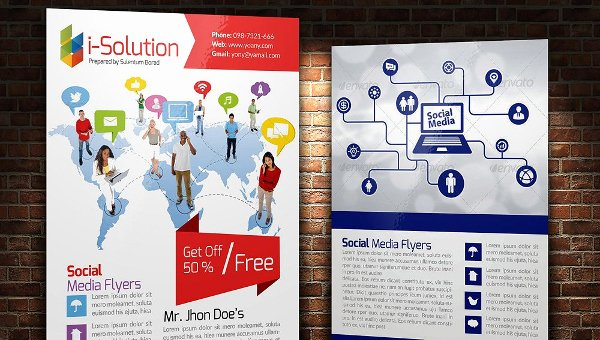 Social Media Template Psd Beautiful 20 social Media Flyer Templates Free Premium Psd Vector