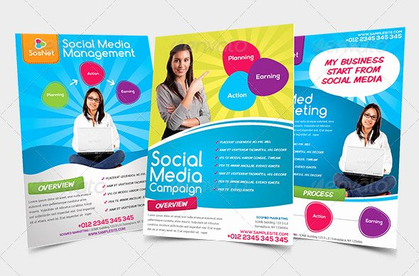 Social Media Template Psd Beautiful Great social Media Flyer Templates Psd Indesign Desi and