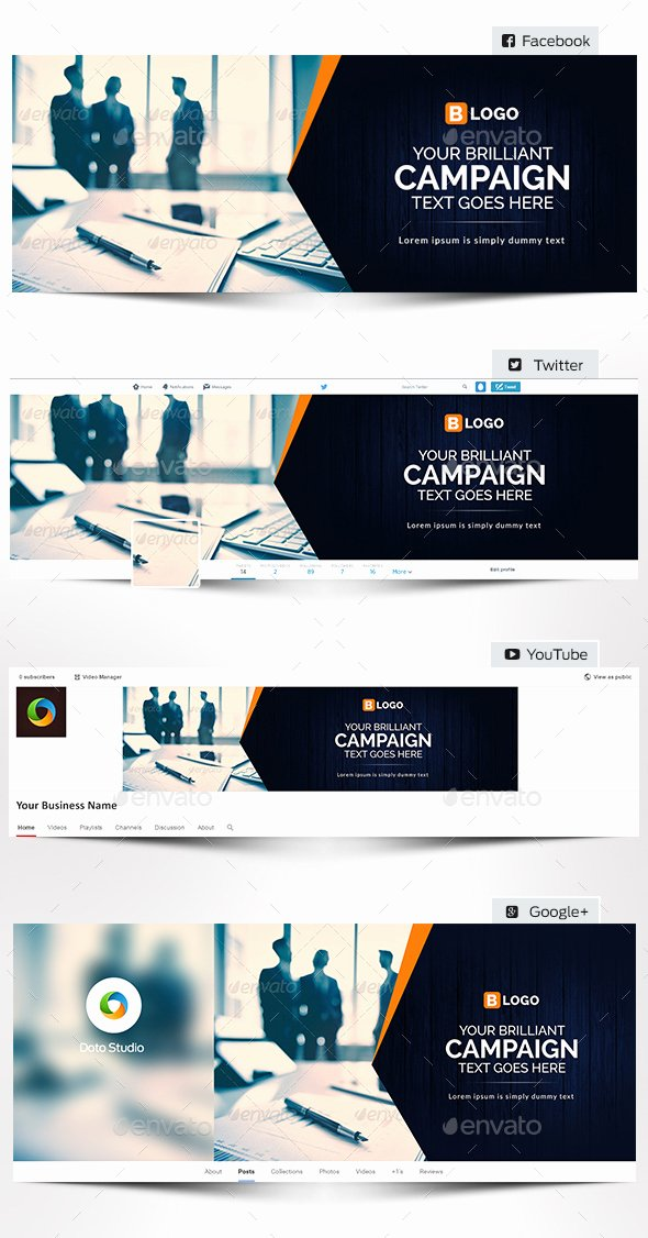 Social Media Template Psd Elegant 35 Amazing Free Banner Templates Psd Download