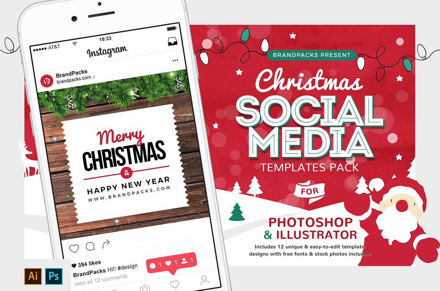 Social Media Template Psd Elegant Christmas social Media Templates Psd Ai & Vector