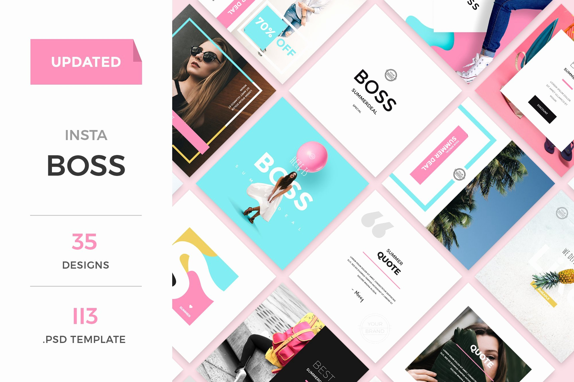 Social Media Template Psd Elegant Instaboss social Media Pack Instagram Templates