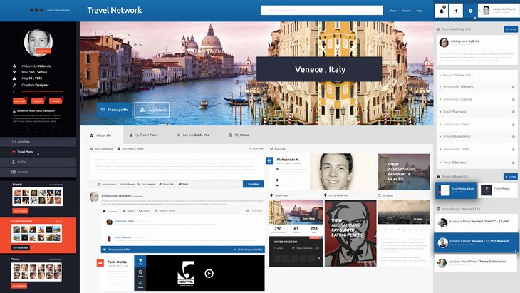 Social Media Template Psd Elegant Travel Network Psd Template Free Psd File
