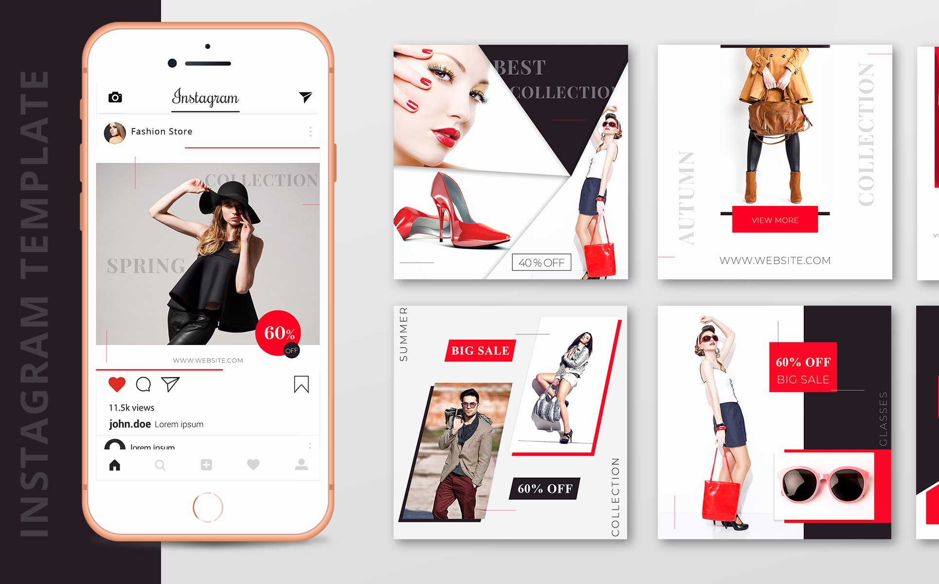 Social Media Template Psd Fresh 10 Fashion Instagram Template Psd Designs social Media