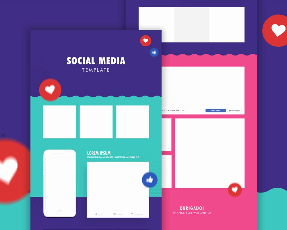 Social Media Template Psd Fresh social Media Template Psd