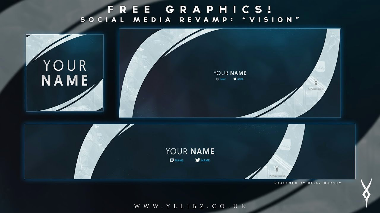 "Social Media Template Psd Lovely Free Graphics social Media Revamp ""vision"" Shop"