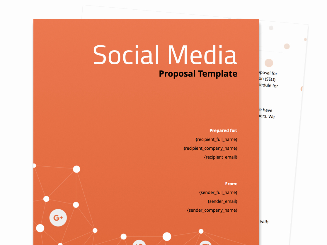Social Media Website Template Awesome Free Business Proposal Templates