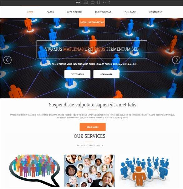 Social Media Website Template Best Of 38 social Media Website themes & Templates