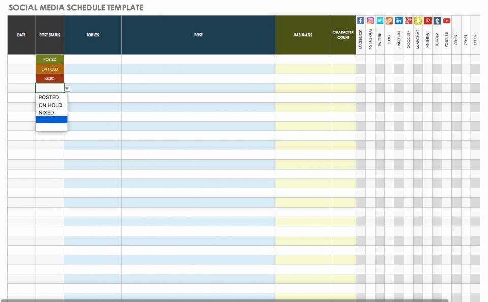 Social Media Website Template Best Of Free social Media Calendar Templates
