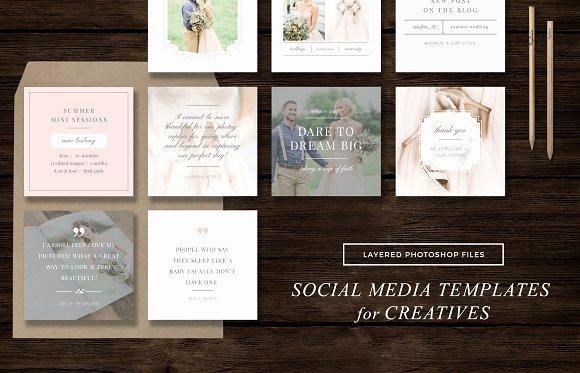 Social Media Website Template Best Of social Media Templates Instagram Web Elements On