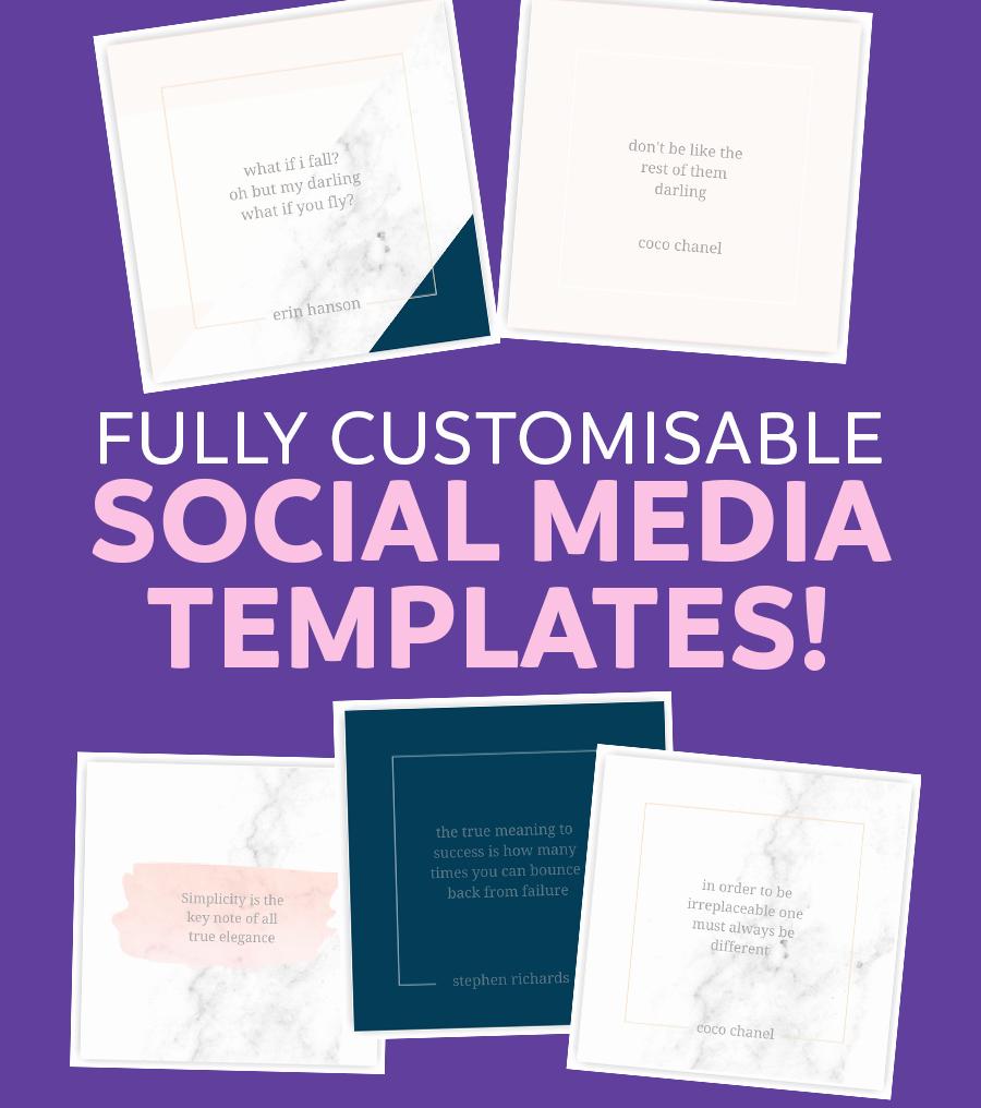 Social Media Website Template Fresh social Media Templates Sarah Rose Design