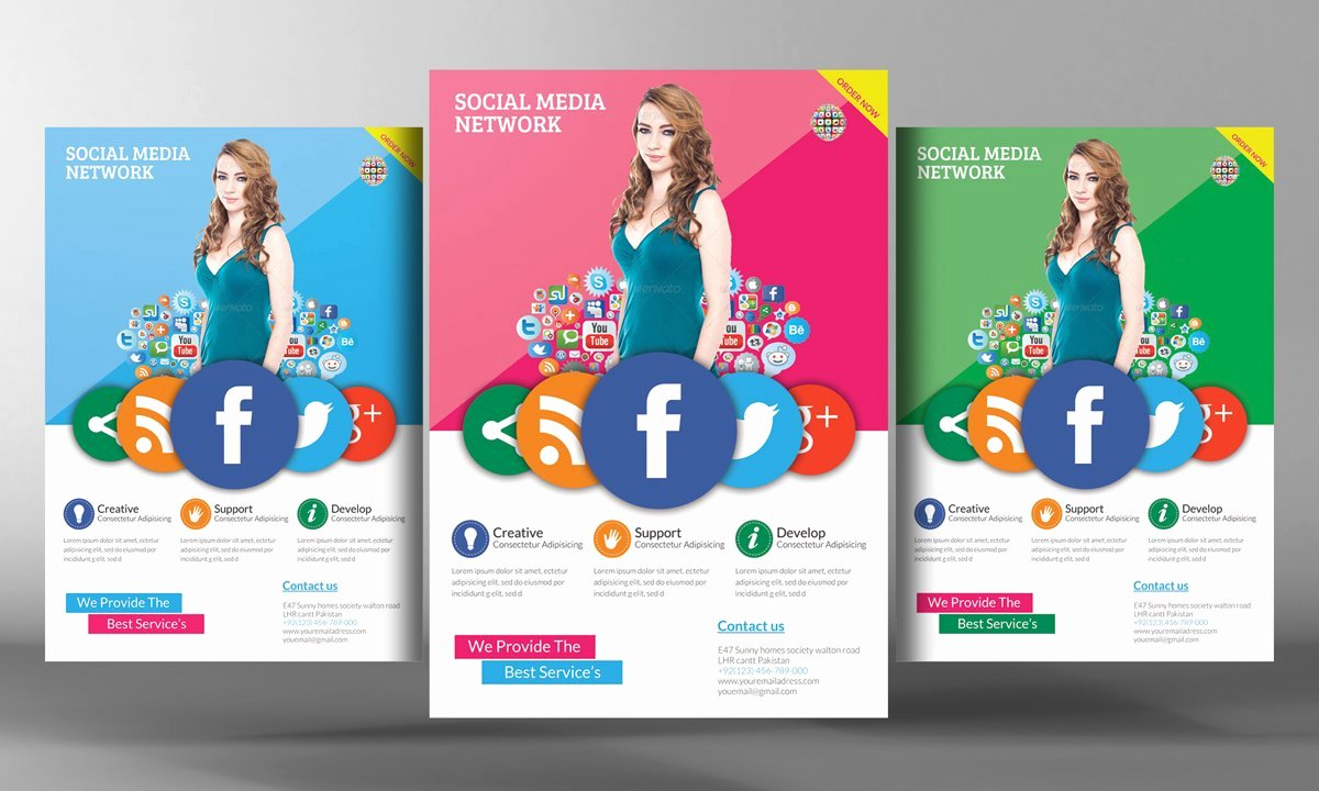 Social Media Website Template Inspirational social Media Flyer Template Flyer Templates Creative