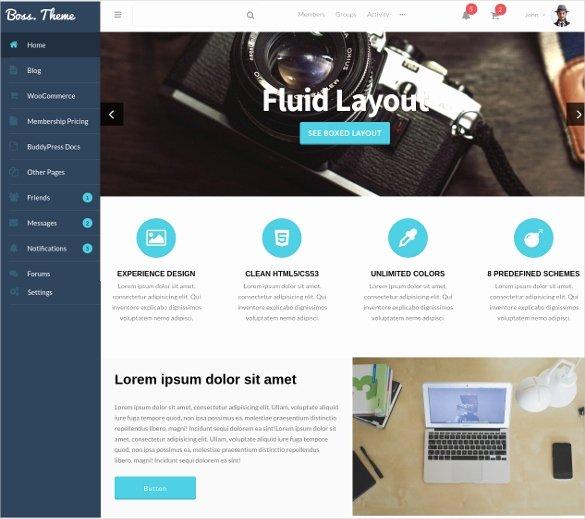 Social Media Website Template Luxury 38 social Media Website themes & Templates