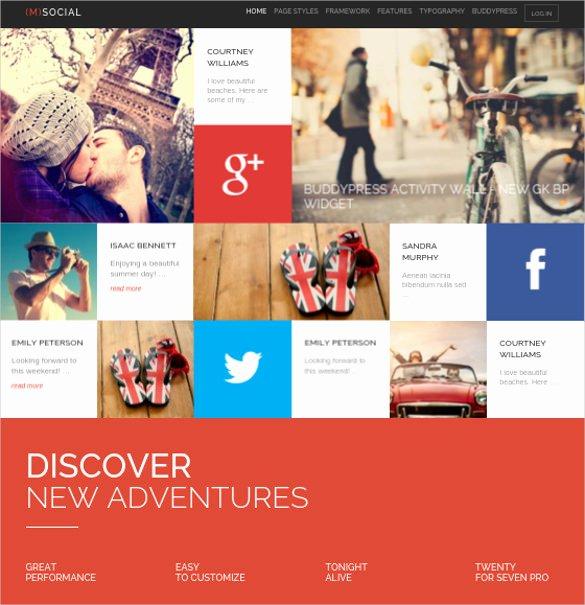Social Media Website Template Unique 24 social Media Website themes & Templates