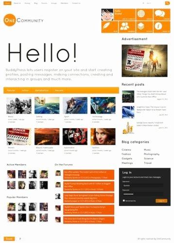 Social Network Website Template Awesome Create A Website Like with Wordpress E Munity
