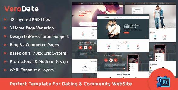 Social Network Website Template Best Of Verodate Dating social Network Website Psd Template by
