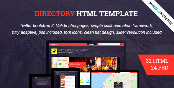 Social Network Website Template Elegant HTML Directory Geolocation social Network Miscellaneous