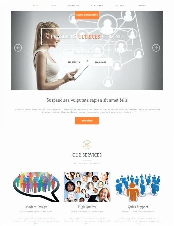 Social Network Website Template Elegant Raream