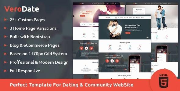 Social Network Website Template Fresh Verodate Dating social Network Website HTML Template by