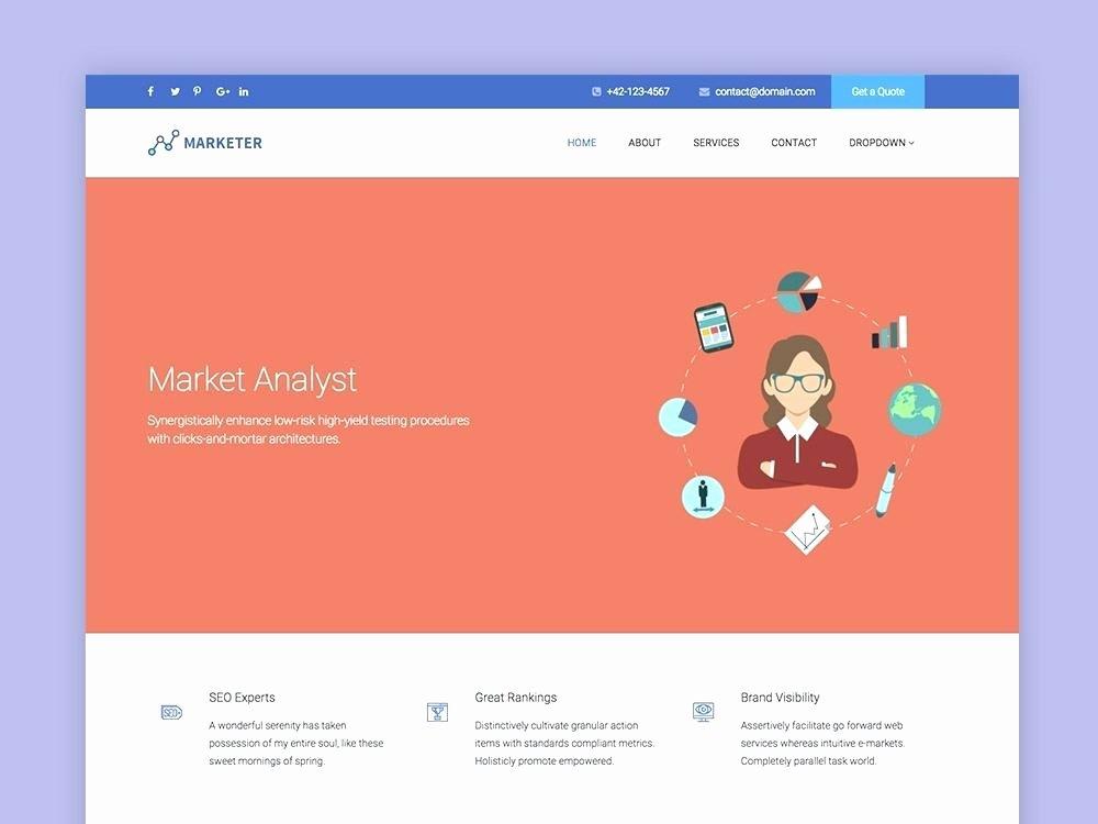 Social Network Website Template Lovely Marketer Line Marketing Website Template social Network