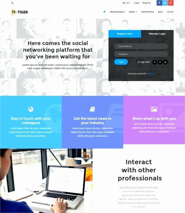 Social Network Website Template Lovely social Network Website Template Corporate social Network