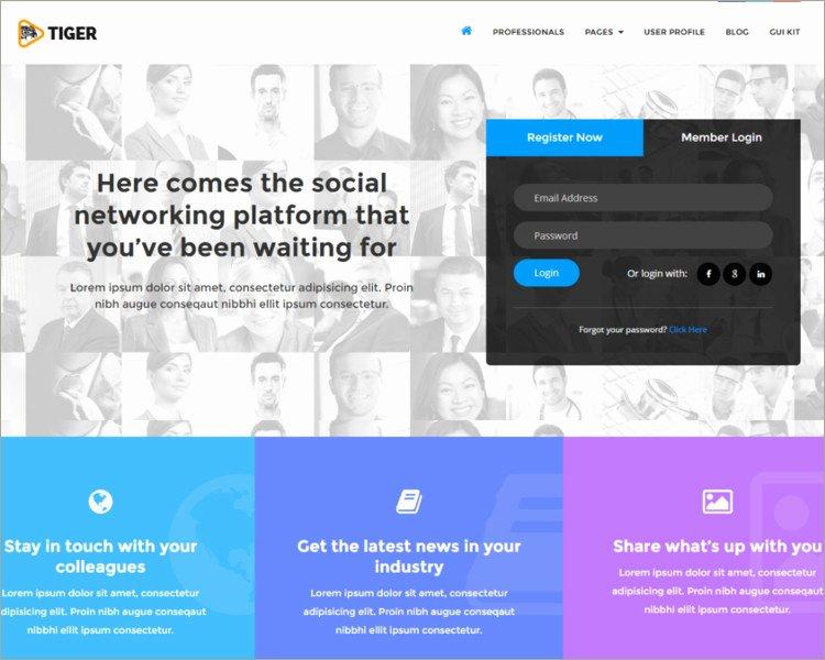 Social Network Website Template Luxury 30 Best social Media Website Templates Free Download