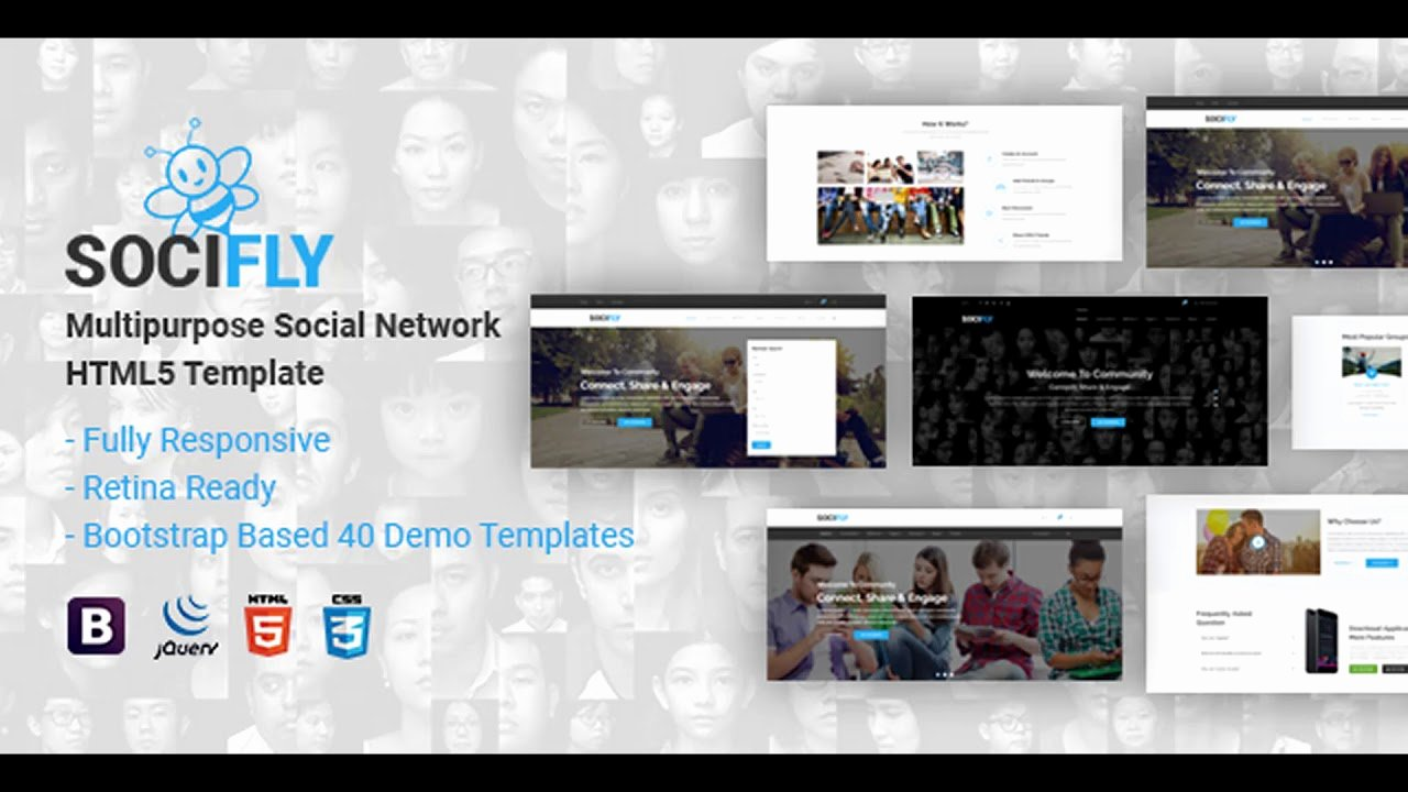 Social Network Website Template New socifly