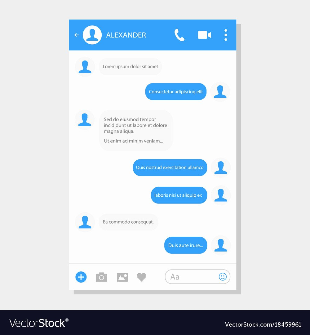 Social Networking Web Template Awesome social Network Messenger Page Template Royalty Free Vector