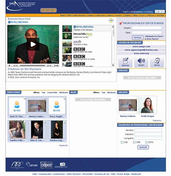 Social Networking Web Template Elegant Business social Network Portfolio
