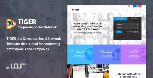 Social Networking Web Template Fresh 15 social Media Website themes Free & Premium Templates