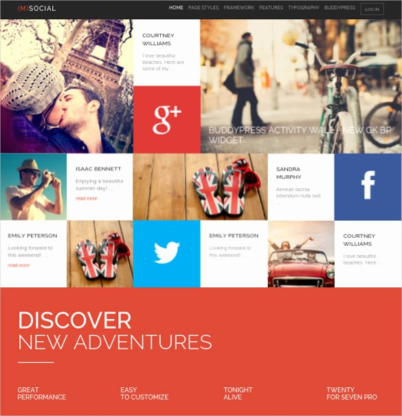 Social Networking Web Template Fresh 24 social Media Website themes & Templates
