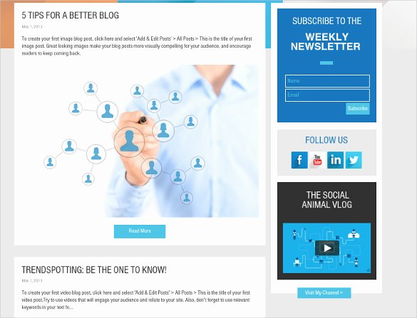 Social Networking Web Template Fresh 24 social Media Website themes & Templates