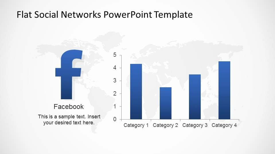 Social Networking Web Template Fresh Bar Chart Usage Statistics Slide Slidemodel