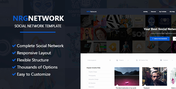Social Networking Web Template Fresh Nrgnetwork Responsive social Network Template by