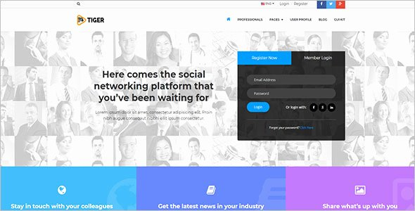 Social Networking Web Template Lovely 29 Static HTML Templates Free Website themes