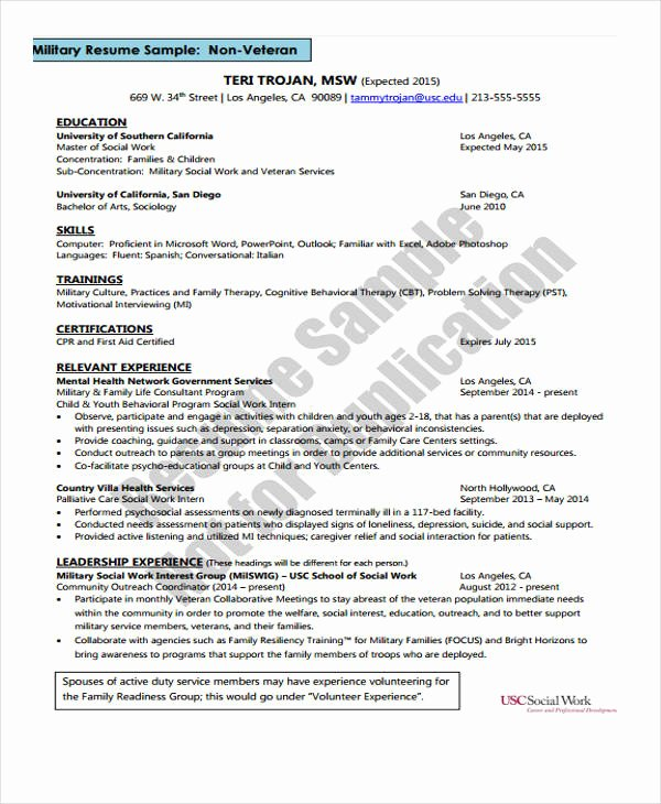 Social Work Resume Template Beautiful social Worker Resumes 8 Free Word Pdf format Download