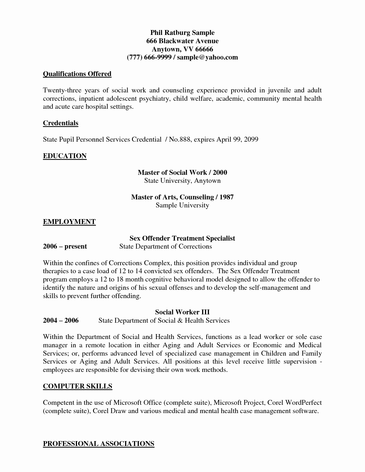 Social Worker Resume Template Awesome Sample social Work Resume Objectives Resume Ideas
