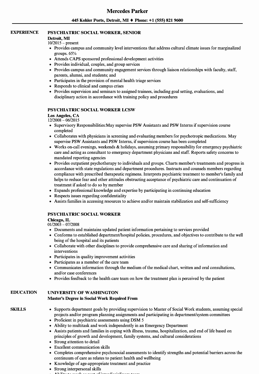 Social Worker Resume Template Elegant Pretty social Worker Resume Examples Gallery
