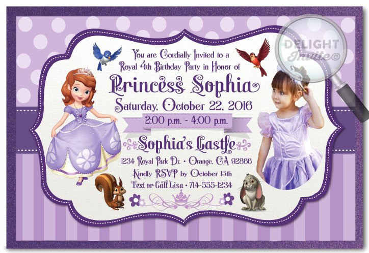 Sofia the First Template Beautiful Beaufiful sofia the First Invitation Template