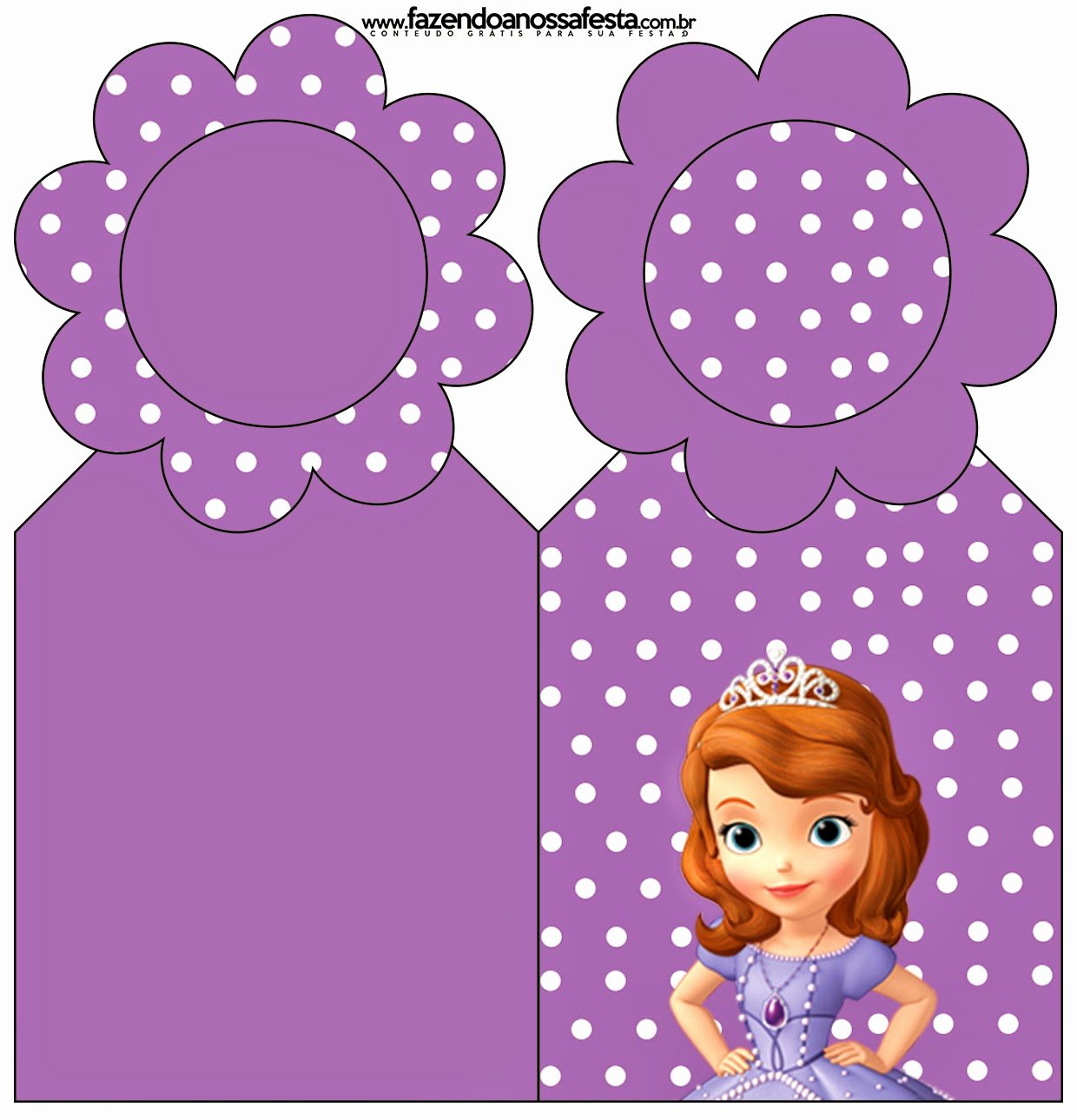 Sofia the First Template Beautiful sofia the First Free Party Printables and
