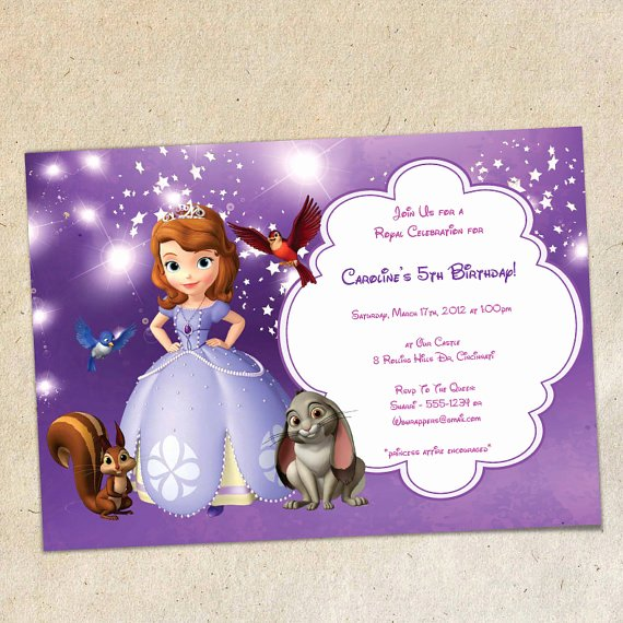 Sofia the First Template Beautiful sofia the First Party Invitation Template Instant Download