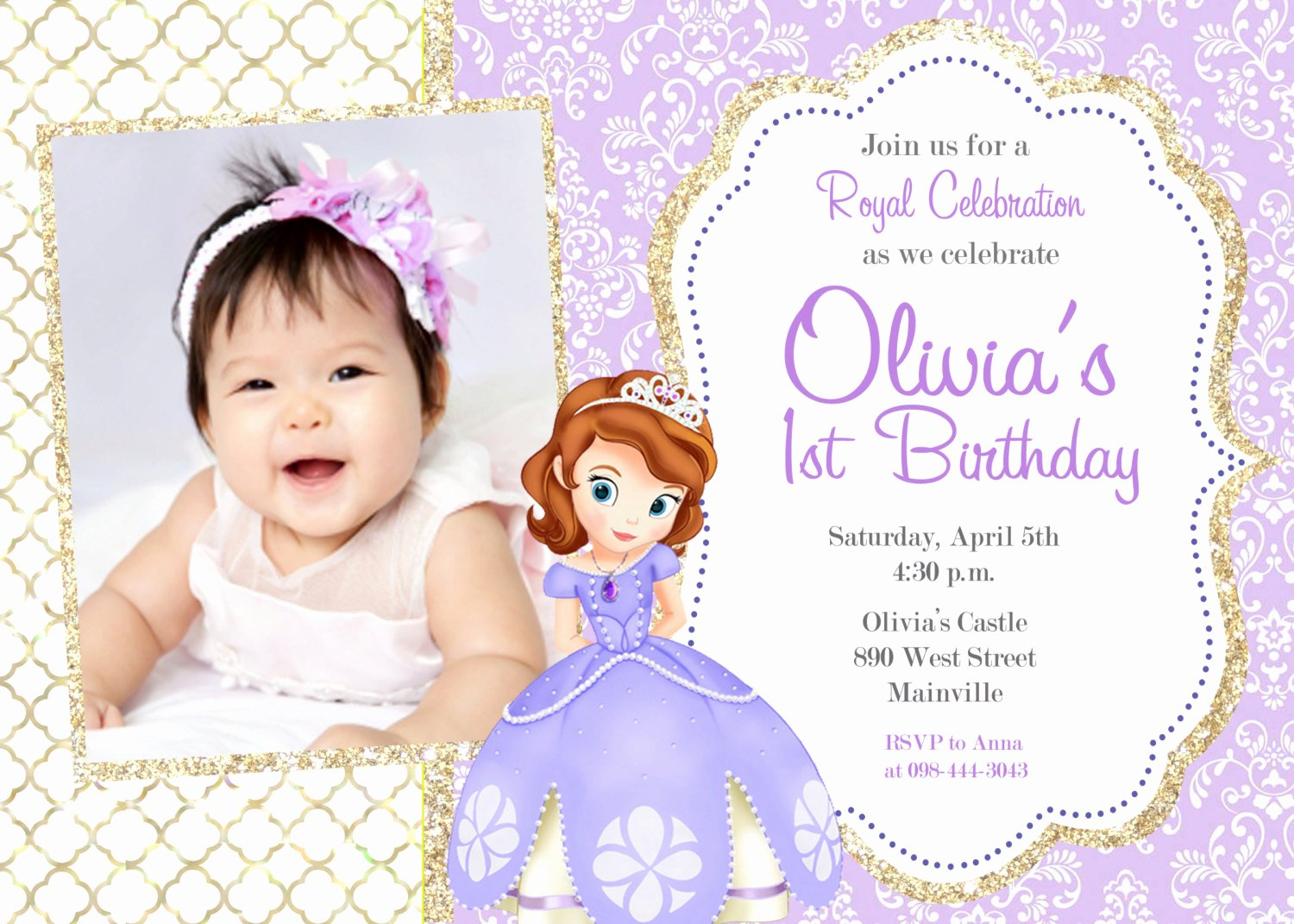 sofia the first party invitations with easy on the eye party invitation templates as a result of an application using a felicitous concept 5