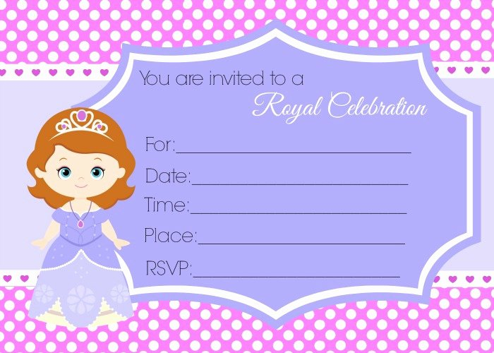 Sofia the First Template Lovely Awesome sofia the First Birthday Invitations 60 with