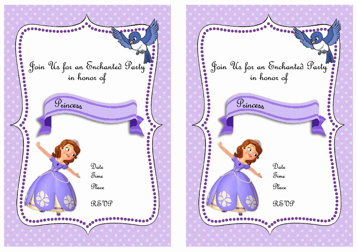 Sofia the First Template Lovely sofia the First Birthday Invitations