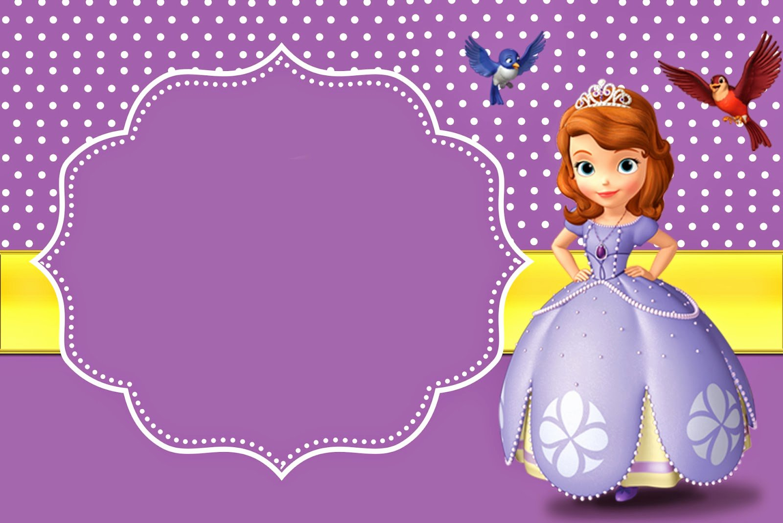 Sofia the First Template Luxury 8 Best Of Free Printable Princess sofia Invitations