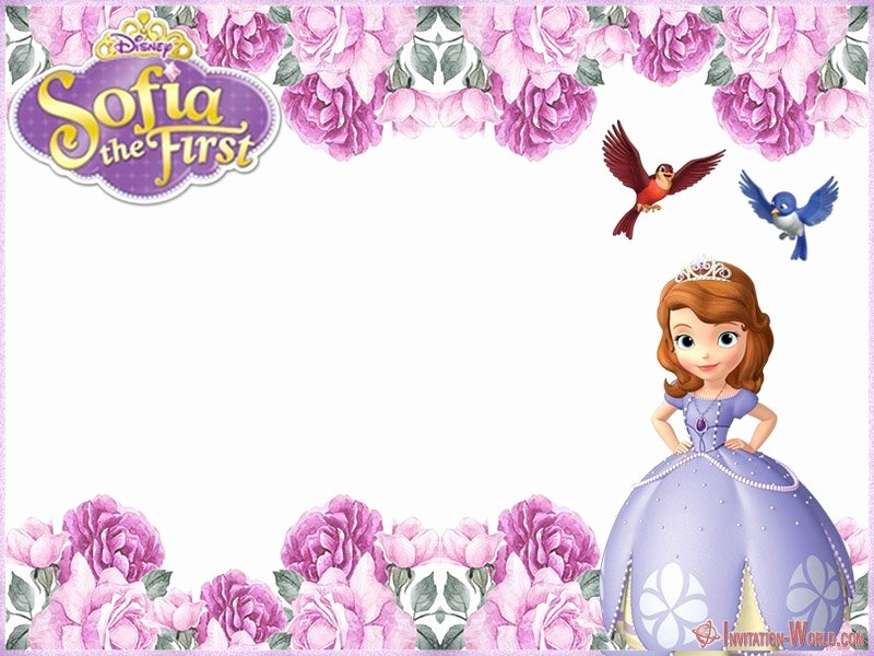 Sofia the First Template New sofia the First Free Line Invitation Templates