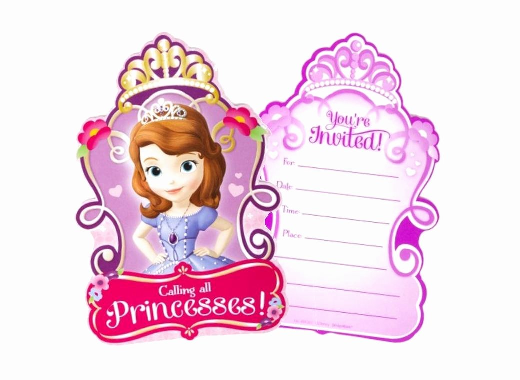 Sofia the First Template Unique Party Invitation Template sofia the First Party