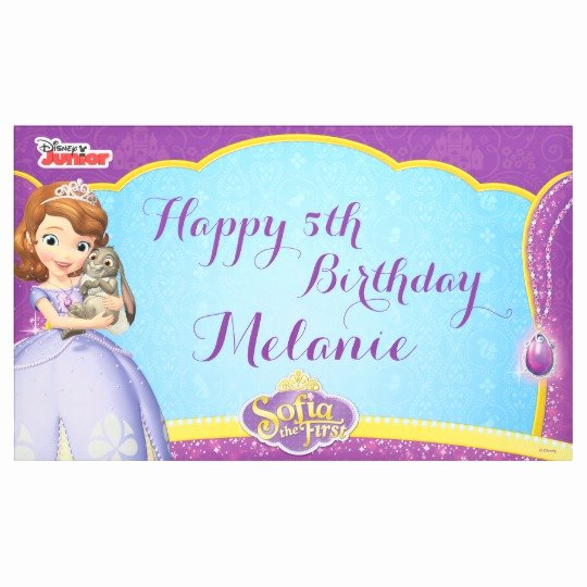 Sofia the First Template Unique sofia the First Birthday Banner