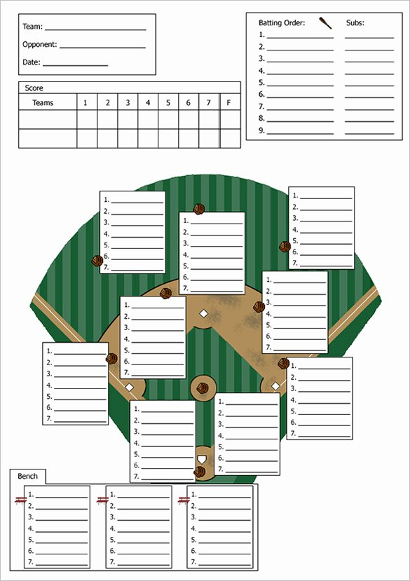 Softball Lineup Template Excel Best Of 9 Baseball Line Up Card Templates Doc Pdf Psd Eps