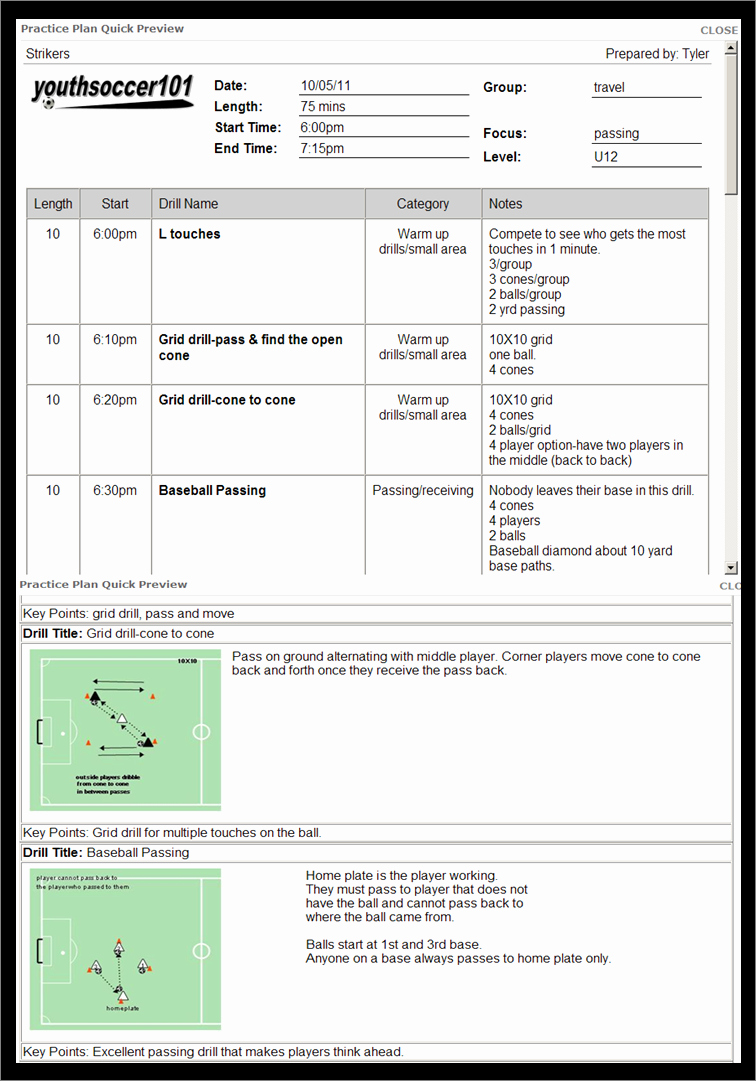 Softball Practice Plan Template Fresh 30 Of soccer Practice Plan Template
