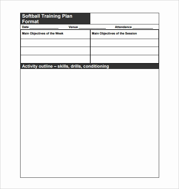 Softball Practice Plan Template Inspirational 13 Practice Schedule Templates Word Excel Pdf